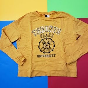 2/$20 H&M Divided yellow sweater top